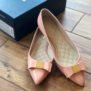Pink Cole Haan Bow Flats
